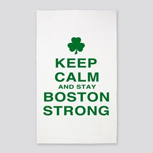 Keep Calm and Boston Strong 3'x5' Area Rug