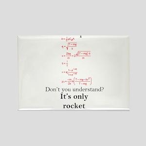 Rocket Science Rectangle Magnet