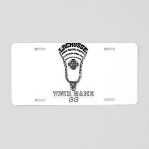 Lacrosse Head Attack Personalizable Aluminum Licen