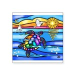 Sea Turtle #8 Square Sticker 3