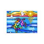 Sea Turtle #8 35x21 Wall Decal