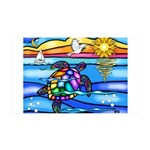 Sea Turtle #8 35x21 Wall Decal