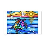 Sea Turtle #8 20x12 Wall Decal