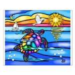 Sea Turtle #8 Small Poster