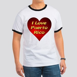 I Love Puerto Rico Ringer T