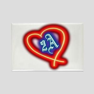 Second Amendment Love Rectangle Magnet