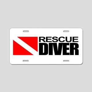 Rescue Diver Aluminum License Plate