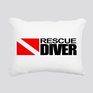Rescue Diver Rectangular Canvas Pillow