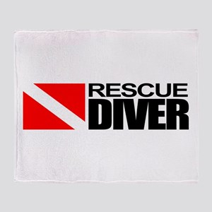 Rescue Diver Throw Blanket