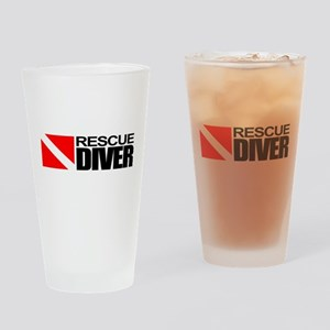 Rescue Diver Drinking Glass