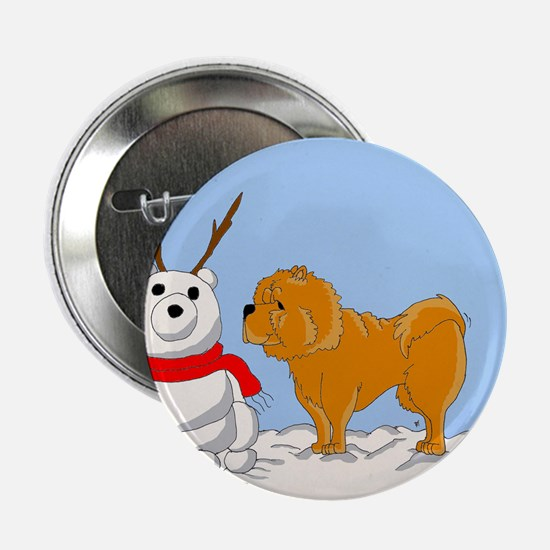 Chow Chow Christmas Button