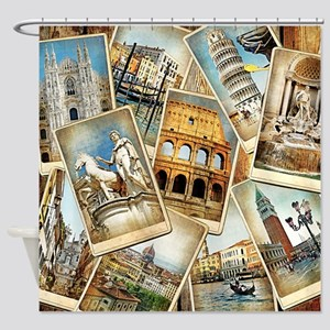 Italy Photo Collage Shower Curtain