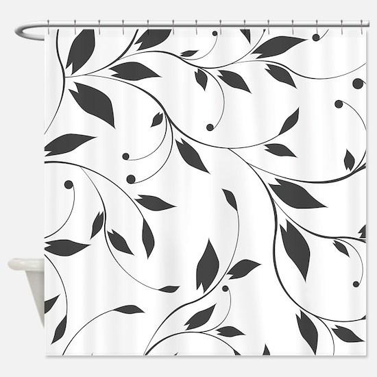 Elegant Leaves Shower Curtain