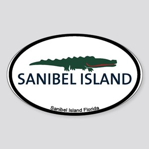 Sanibel Island - Alligator Design. Sticker (Oval)