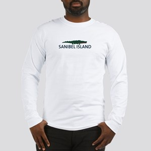 Sanibel Island - Alligator Design. Long Sleeve T-S