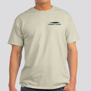 Sanibel Island - Alligator Design. Light T-Shirt