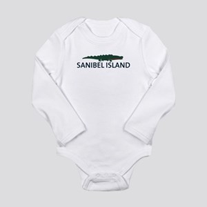 Sanibel Island - Alligator Design. Long Sleeve Inf