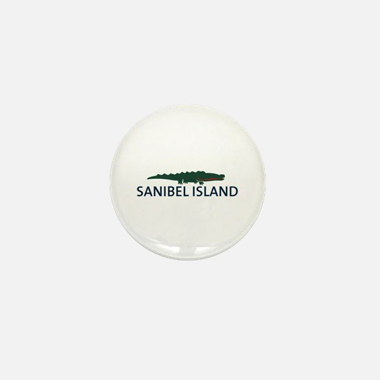Sanibel Island - Alligator Design. Mini Button