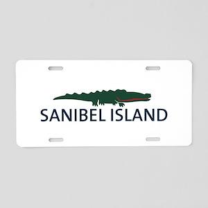 Sanibel Island - Alligator Design. Aluminum Licens