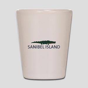 Sanibel Island - Alligator Design. Shot Glass