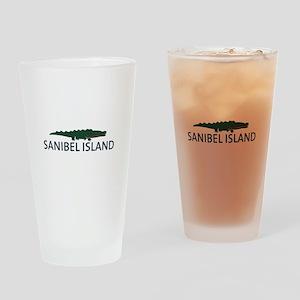 Sanibel Island - Alligator Design. Drinking Glass