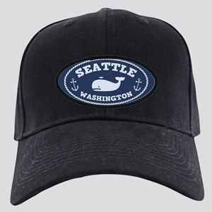 Seattle Whale Black Cap