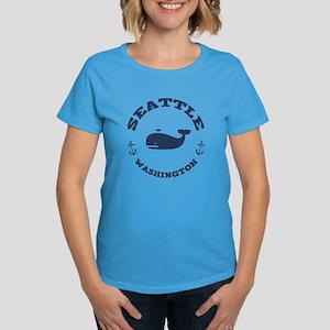 Seattle Whale Women's Dark T-Shirt