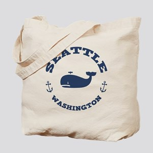 Seattle Whale Tote Bag