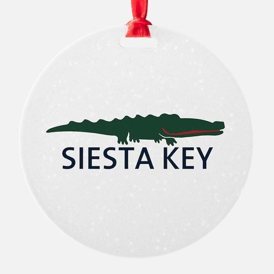 Siesta Key - Alligator Design. Ornament
