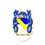 Carl Oval Car Magnet