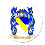 Carl Round Car Magnet