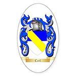 Carl Sticker (Oval 50 pk)
