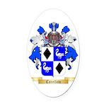 Carellow Oval Car Magnet