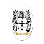 Carelli 35x21 Oval Wall Decal