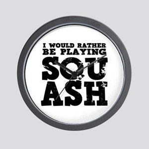'Playing Squash' Wall Clock