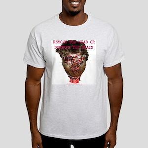 Remove The Head! Ash Grey T-Shirt