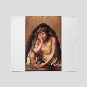 Christ The Man of Sorrow Throw Blanket