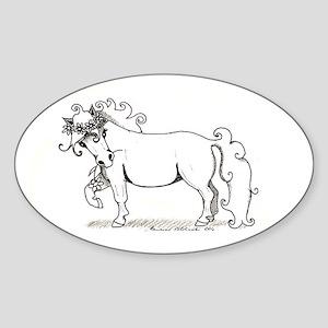 Kukkaponi - Flower Pony Oval Sticker