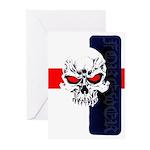 Red Eye Skull Forever Greeting Cards (Pk of 10)