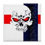 Red Eye Skull Forever Tile Coaster