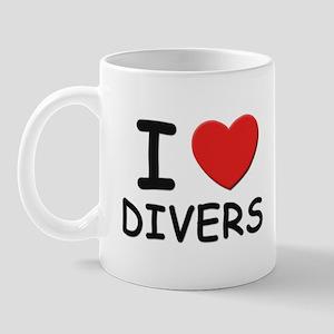 I love divers Mug