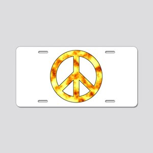 Explosive Peace Sign Aluminum License Plate