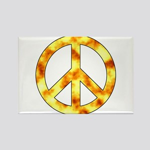 Explosive Peace Sign Rectangle Magnet
