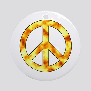 Explosive Peace Sign Ornament (Round)