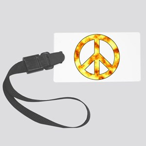 Explosive Peace Sign Luggage Tag