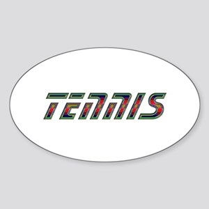Tennis Oval Sticker