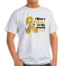 Ribbon Hero Appendix Cancer Light T-Shirt
