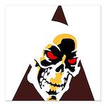 Skull Triangle Square Car Magnet 3
