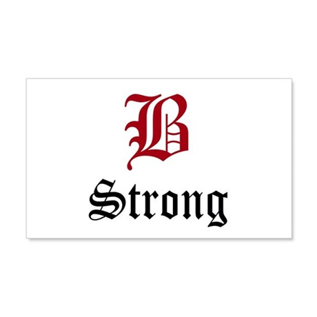 B Strong 20x12 Wall Decal