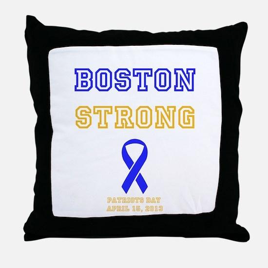 Boston Strong Ribbon Design Throw Pillow